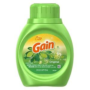 Gain With Freshlock Original Liquid Detergent 16 Loads 25 Fl Oz (Pack of 2)