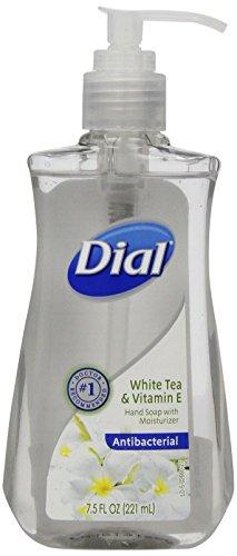 Dial Antibacterial Hand Soap, White Tea & Vitamin E, 7.5 Oz