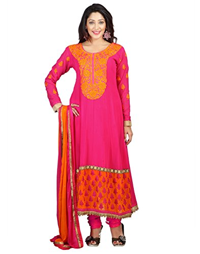 Yehii salwar suits for women stitched party wear Pink Pure Georgette