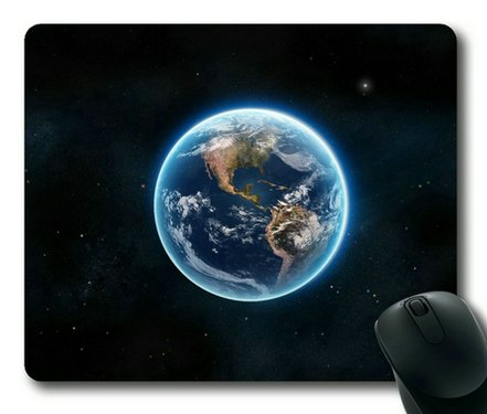 Blue Earth Glow Sakuraelieechyan Rectangle Mouse Pad front-422299