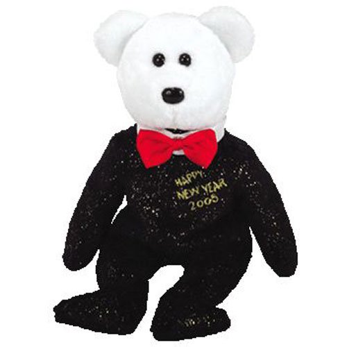 TY Beanie Baby - COUNTDOWN the Bear (Internet Exclusive) (7, 6, 5, 4 version) (8.5 inch)