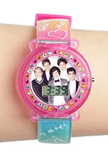One Direction 1D Rainbow Song Title Strap LCD Watch by One Direction