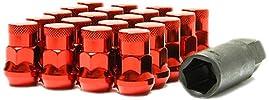 Muteki 32925RP SR35 Series Red 12mm x 1.25″ Thread Size Closed End Lug Nut, (Set of 20)