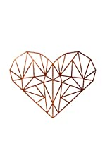 Surdic Vinilo Decorativo Heart Cobre