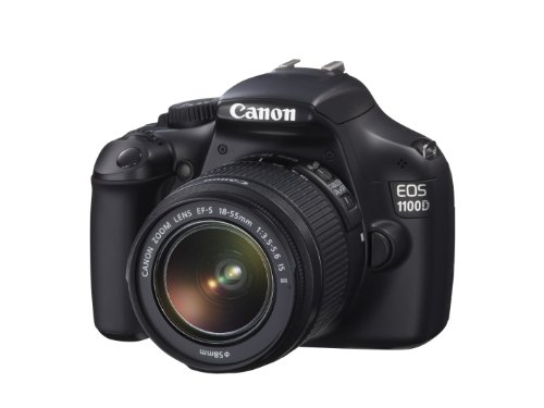 Canon EOS 1100D EF-S IS II Lens 12MP SLR Camera 2.7 inch LCD - Black