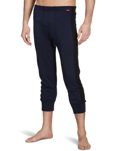 Huber Herren Lange Unterhose 2413/ Active Hot Pant 3/4 lang, Gr. 5, Blau (DEEP NAVY 7398)