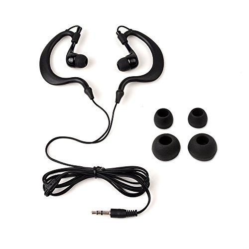 Waterproof Earphone,OKCSC(TM) 3.5mm Waterproof Headset Headphone for Phone Ipod Mp3 Mp4 Player Swimming (Black)