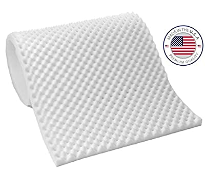 """Eva Medical 3"""" inches thick EggCrate Foam Mattress Pad - Made in USA"""