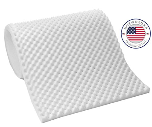 Eva Medical EggCrate Foam Mattress Pad - Thickness 3 inches (Hospital Bed Twin Size) - Made in USA (Custom Size Crib Mattress compare prices)