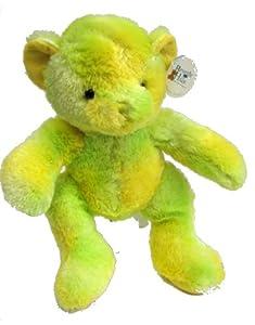 """Beverly Hills Teddy Bear Fluorescent Teddy Bear Yellow Green 16"""""""