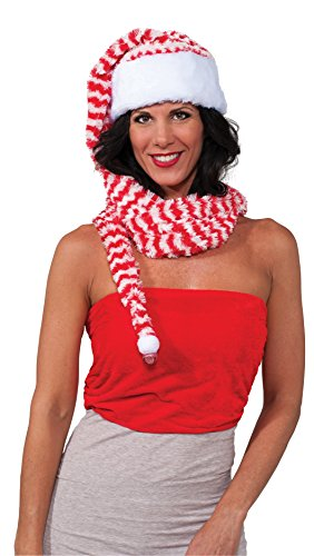 Rubie's Costume Men's Clausplay Candy Cane Striped Long Hat and Scarf