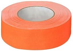 Polyken 510 Rubber Premium Grade Gaffer\'s Tape, 45m Length x 48mm Width, Neon Orange