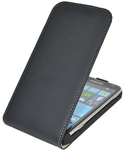 Premium Flip-Style Handytasche fuer - Samsung Ativ S (i8750) - Tasche Etui Huelle Schutzhuelle (Spezielle Anfertigung)