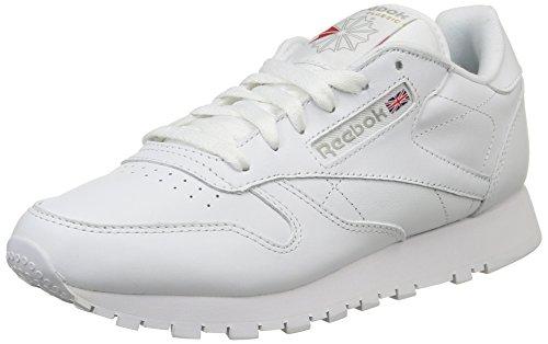 Reebok - Classic Leather, Scarpe Da Corsa unisex, Bianco (White), 37