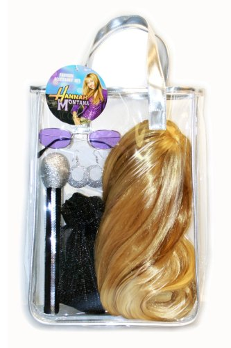Hannah Montana Tote Bag With Wig And Assorted Accessories, Silver