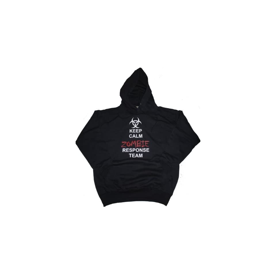 Got Tee Keep Calm Zombie Outbreak Response Team Hoodie / Sweatshirt S Black