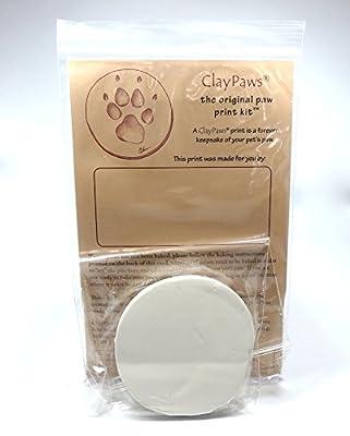 Claypaws Paw Print Kit White Clay