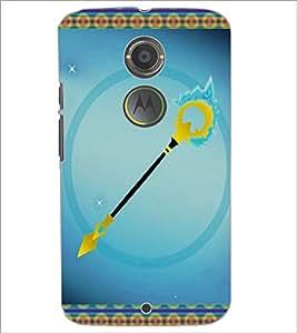 PrintDhaba Arrow D-3696 Back Case Cover for MOTOROLA MOTO X2 (Multi-Coloured)