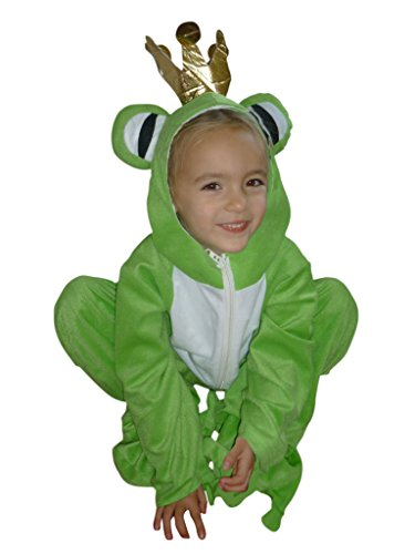 [Fantasy World Boys/Girls Frog Prince Halloween Costume, Size 4T, Sy12] (Prince Frog Costumes)