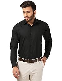 Mesh Full Sleeves Casual Cotton Blend Shirt For Men's/Boy's (Black) -Parent
