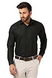 Mesh Full Sleeves Casual Cotton Blend Shirt for Men's/Boy's (Black) -38