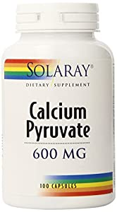 Solaray Calcium Pyruvate Capsules, 600 mg, 100 Count