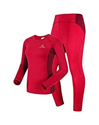 The First Outdoor Women\'s Thermal Underwear Set Size 12 US Mei Red