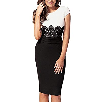 Women Sexy Lace Pencil Dress Party Cocktail Bodycon Night out Wear