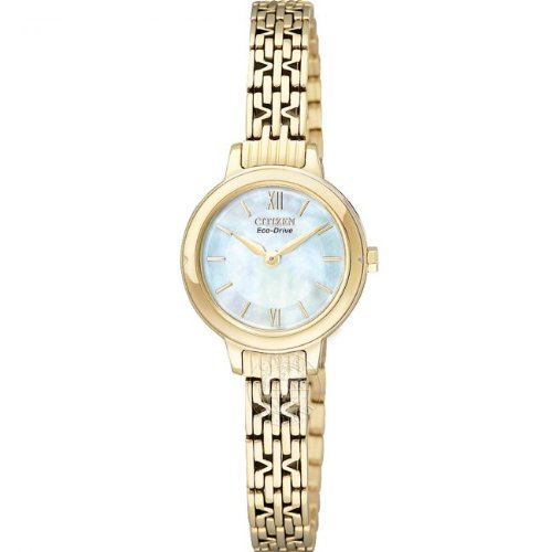 Citizen, Ladies Eco-Drive Analogue Watch EX1022-52D with Mother of Pearl Dial and Manicure Friendly Clasp