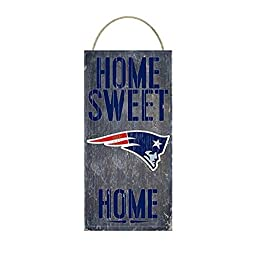 NFL New England Patriots Home Sweet Home Distressed Vintage Sign for NFL Football Sports Fan Wall Decor CHOOSE YOUR TEAM!!! (Patriots)