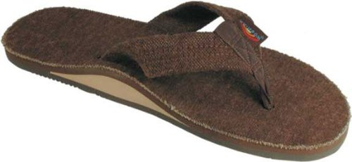 Rainbow Sandals Men's Hemp Single Layer Brown XX-Large (12-13.5) [Apparel]