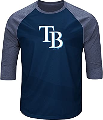 Tampa Bay Rays Mens Raglan Colorblock T-Shirt