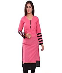 ARAJA FASHION GOOD LOOKING DESIGNER PINK COLOR COTTON PLAIN KURTI