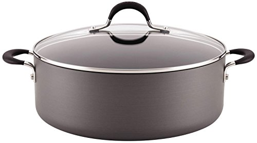 Circulon Momentum Hard-Anodized Nonstick 7-1/2-Quart Covered Stockpot - Gray