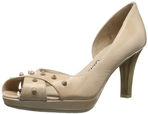 Hispanitas Womens Irina HV49638 Peep-Toe Beige Beige (Kaffir Nude) Size: 7 (41 EU)