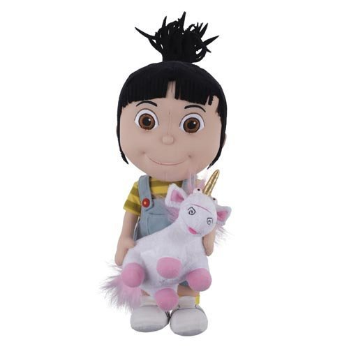 """Despicable Me Agnes Holding Fluffy Unicorn 15"""" Large Plush Universal Exclusive NEW by Universal Studios"""