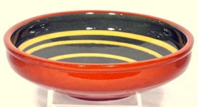 Genuine Terracotta 25cm Serving Bowl - Dark Greenyellow by Be-Active