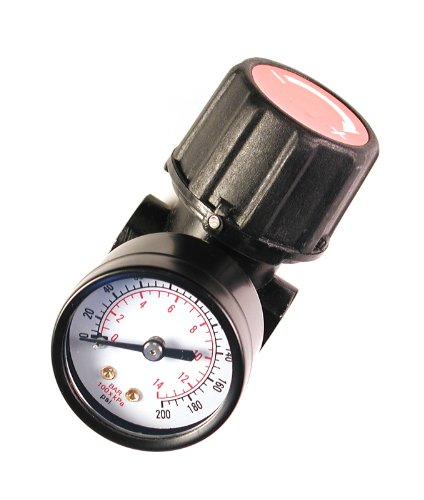 Primefit Primefit CR1401G Replacement Air Regulator with Steel-Protected Gauge, 1/4-Inch NPT