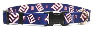 Yellow Dog Design New York Giants Licensed NFL Dog Collar, Medium, 14-Inch by 20-Inch