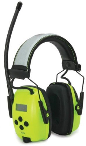 Howard Leight By Honeywell 1010390 Hi-Vis Radio And Mp3 Ear Muff, Bright Green With Reflective Headband, 1-Pair