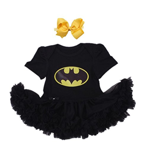 Starkma Supergirl Newborn Batgirl Baby Girl Set Clothe Cake Dress S03 M