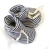 Sckoon Organic Cotton Baby Booties Navy Stripes Onesize one ~ Sckoon Organics