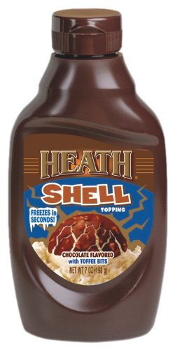 Heath Shell Toppings, Chocolate with Toffee Bits, 7-Ounce Bottles (Pack of 12)
