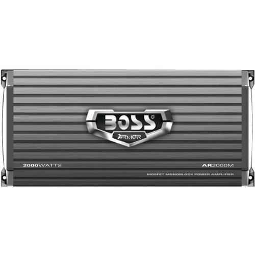 Boss Audio Ar2000M Armor 2000-Watts Monoblock Class A/B 1 Channel 2-8 Ohm Stable Amplifier With Remote Subwoofer Level Control
