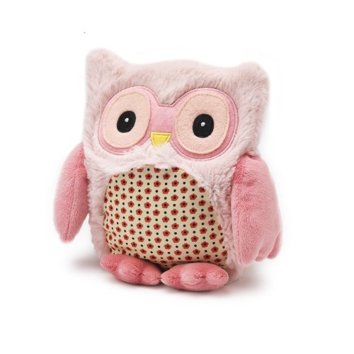 Intelex Hooty Microwaveable Plush, Pink