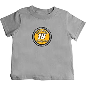 Buy Checkered Flag Kyle Busch Toddler Littlest Fan T-Shirt - Grey by Checkered Flag