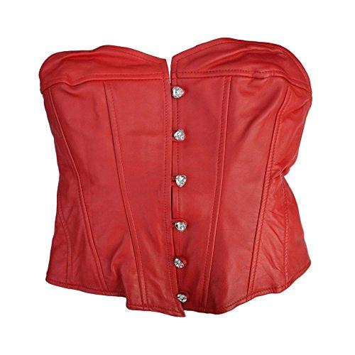 Zoelibat 53045966.029s-Corsetto Minigonna Set Herzilein in nappa di capra, 2pezzi, S, colore: rosso