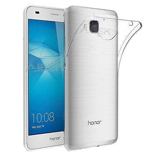 Coque Huawei Honor 5C, AICEK Etui Ultra Mince Housse Silicone Transparent pour Honor 5C Coque de Protection en TPU avec Absorption de Choc Bumper et Anti-Scratch