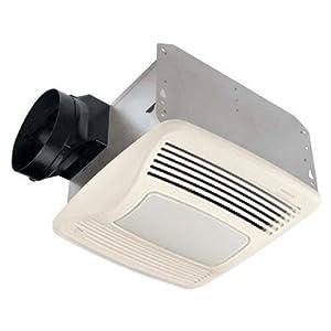 Nutone QTXN110SL Ultra Silent Humidity Sensing Bath Fan 100W Light 4W Nightlight 110 CFM