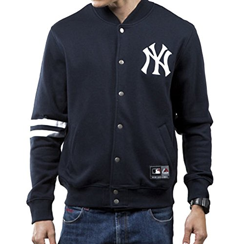 Giacca  Majestic - Mlb Emodin Fleece Letterman New York Yankees blu formato: S (Small)